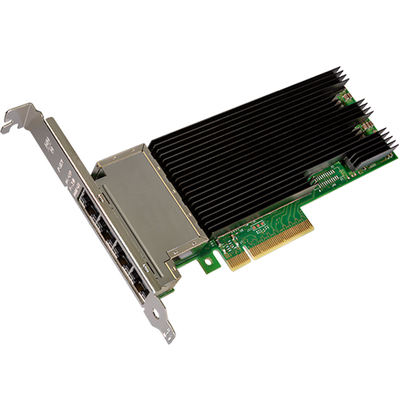 Intel Ethernet Converged Network Adapter X710-T4 Netwerkkaart - Zwart,Groen