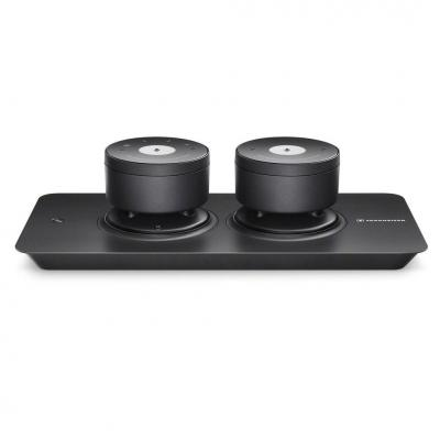 Sennheiser : TeamConnect Wireless Tray-M Set, 200 Hz - 12 kHz, 2x Omni MEMS, Bluetooth, Micro-USB, 2.5mm, 12V DC, .....
