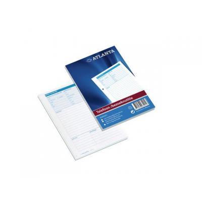 Atlanta telefoonberichten kussen of boek: Telefoon bezoeknotitie Atl. nl/pk 5x100
