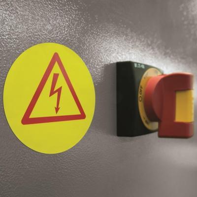 Herma etiket: Signs signalling hard-wearing A4 Ø 85 mm round yellow strong adhesion film matt weatherpr 150 pcs. - Geel