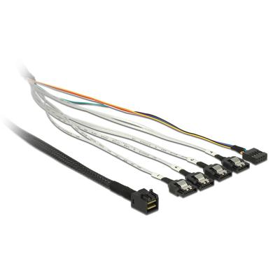 DeLOCK 0.5m, SFF-8643/4 x SATA 7p Kabel - Multi kleuren