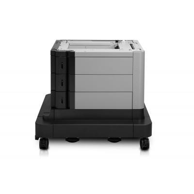 Hp papierlade: LaserJet LaserJet 2x500/1x1500-sheet high-capacity invoer met standaard - Zwart, Wit