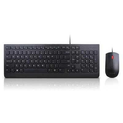 Lenovo USB, 1000dpi, Black, US ENG - QWERTY Toetsenbord - Zwart
