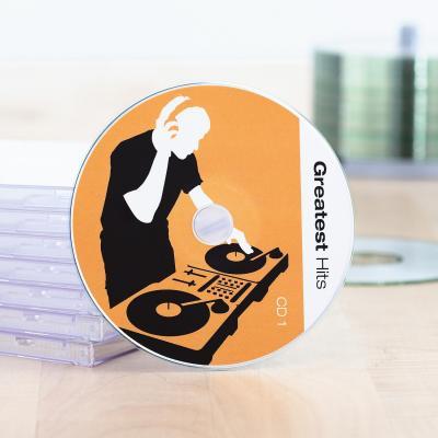 Herma etiket: CD labels Maxi A4 Ø 116 mm white paper glossy 50 pcs. - Wit