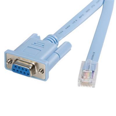 Startech.com netwerkkabel: 1,8 m RJ45 naar DB9 Cisco consolebeheerrouterkabel M/F - Blauw