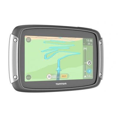 Tomtom navigatie: Rider 400 - Zwart, Zilver