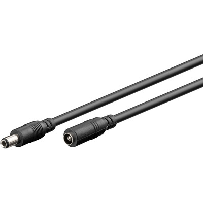 Goobay 2.5 mm DC extension cable Electriciteitssnoer - Zwart
