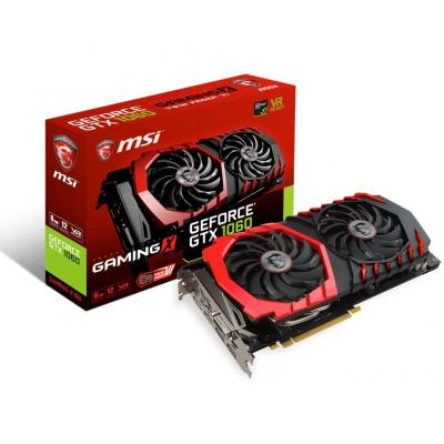 Msi videokaart: GeForce GTX 1060 GAMING X 6G - Zwart, Rood