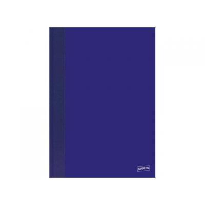 Staples register: Register SPLS A5 ruit 96bl blauw.