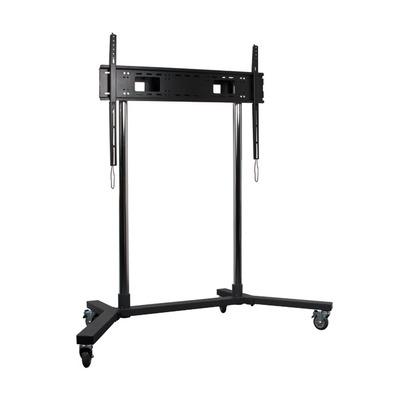 B-Tech Extra-Large Flat Screen Trolley TV standaard - Zwart, Chroom