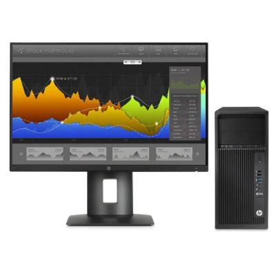Hp pc: Z Workstation bundel: Z240 MT + Z24nf monitor - Zwart