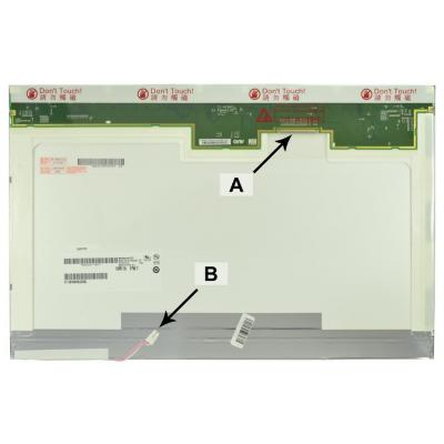 2-power notebook reserve-onderdeel: 17.1 WXGA+ 1440x900 CCFL1 Glossy Screen - replaces B170PW03 V.3 - Zwart