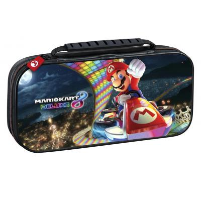 Bigben interactive portable game console case: Officiële Nintendo Switch travelcase met Mario Kart 8 - Zwart