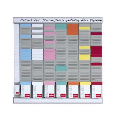Nobo planningsysteem: T-Kaart Planningset Weekplanner 8 Kl. 24 Sleuven - Wit