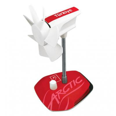 ARCTIC : Breeze Country (UK) - USB Table Fan - Rood, Wit