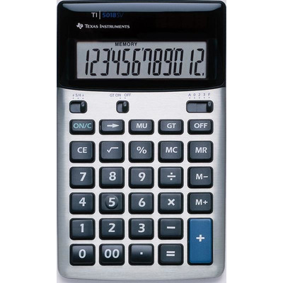 Texas instruments calculator: TI-5018 SV - Zwart, Zilver