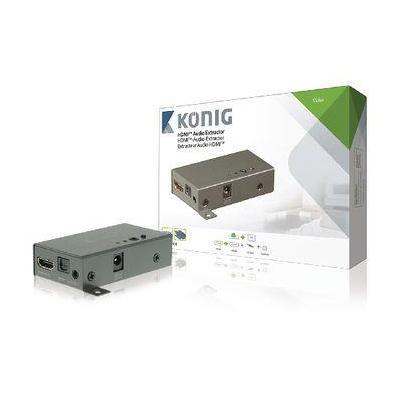 König video converter: HDMI Converter HDMI-Ingang - HDMI-Uitgang - Antraciet