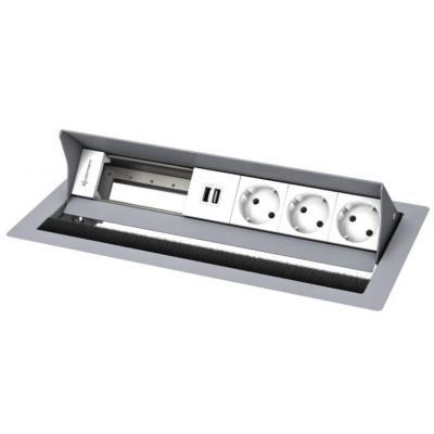 Kindermann CablePort standard² Inbouweenheid - Zilver, Wit