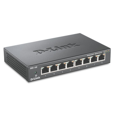D-Link DGS-108 Switch - Zwart