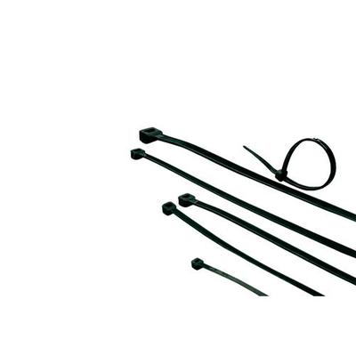 ACT Tie wraps,s zwart, lengte 203 mm, breedte 3.6 mm Kabelbinder
