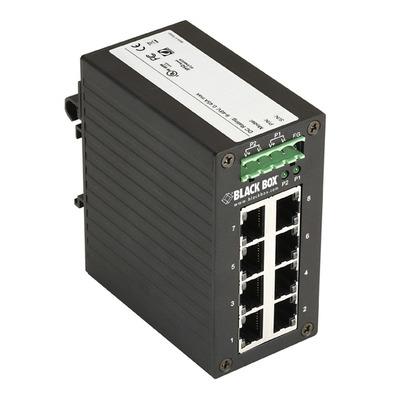 Black Box Hardened Gigabit Edge, 8-Port Switch - Zwart