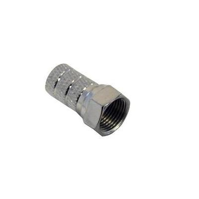 Digiality coaxconnector: F-Connector for 5.0 mm Cable Twist-on type N35/RG59,100 PCS - Roestvrijstaal