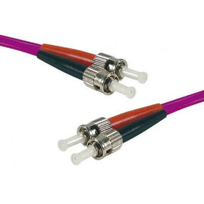 Connect ST-UPC/ST-UPC duplex multimode OM4 50/125 Fiber patch cable erika, 3 m Fiber optic kabel - Fuchsia