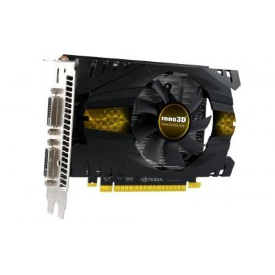 Inno3D 2 GB GDDR5, 128-bit, 2560 x 1600, Cuda cores 640, PCI-E3.0 X16, Mini HDMI, Dual Link DVI Videokaart - Zwart