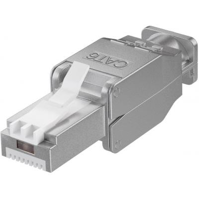 Microconnect Tool-free RJ45 CAT6 connector Kabel connector - Zilver