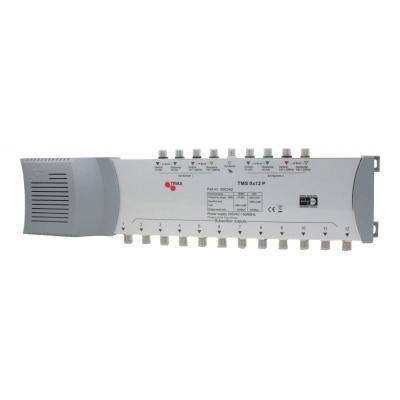 Hirschmann kabel splitter of combiner: TMS 9x12P multiswitch 9 in, 12 uit - Grijs