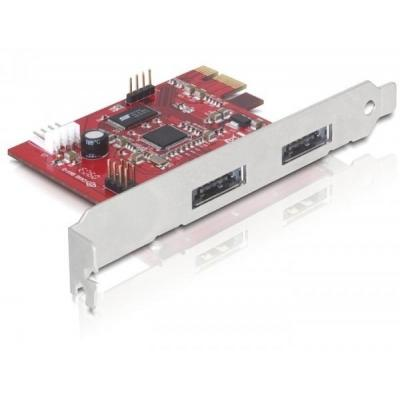 Delock interfaceadapter: PCI Express Card - Rood