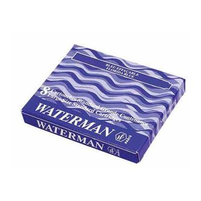 Waterman inktvulling: INKTPATR BLW/ZW PK 8X