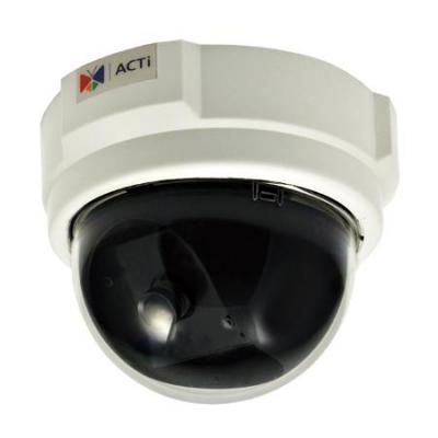 Acti beveiligingscamera: 1MP Indoor Dome with Basic WDR, Fixed Lens - Zwart, Wit