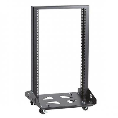 Black Box Mobile Open - 2-Post, 19U Rack - Zwart