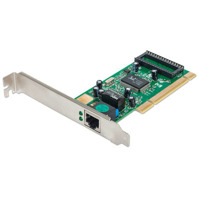 Intellinet Gigabit PCI Network Card, 32-bit 10/100/1000 Mbps Ethernet LAN PCI Card Netwerkkaart