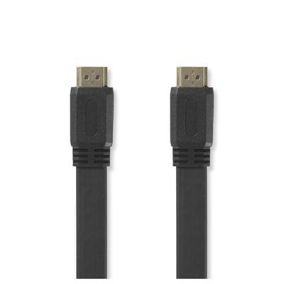 Nedis Platte High Speed HDMI™-Kabel met Ethernet, HDMI™-Connector - HDMI™-Connector, 2,0 m, Zwart HDMI kabel