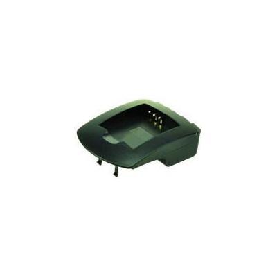 2-power oplader: Battery charger plate for digital cameras, black - Zwart