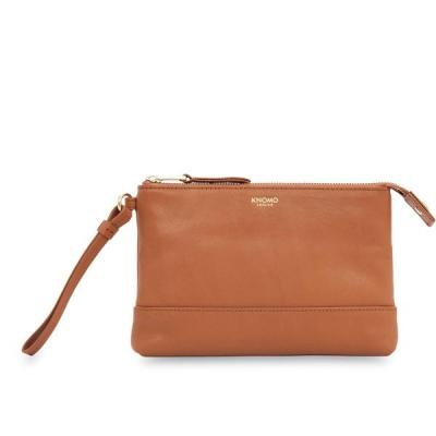 Knomo vrouwen-handtas: Bond Charge Purse With Power (Smartphone) Caramel - Bruin