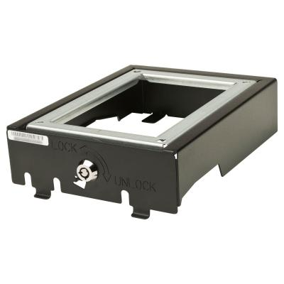 Cisco montagekit: Charcoal Locking Wallmount Kit for 6921 & 6941 - Zwart, Roestvrijstaal (Open Box)