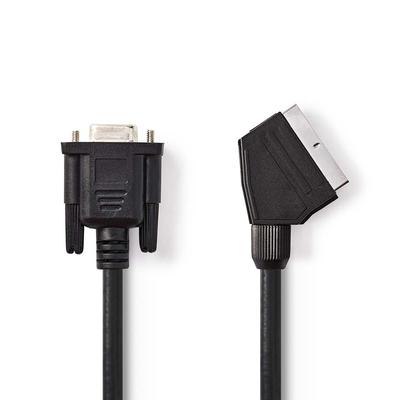 Nedis SCART - VGA-Kabel, SCART Male - VGA Female, 2,0 m, Zwart