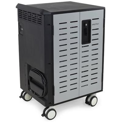 Ergotron ZIP40 portable device management carts & cabinet - Zwart, Grijs