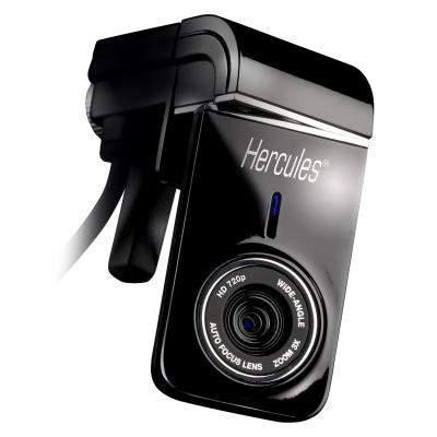 Hercules webcam: Dualpix HD720 - Zwart
