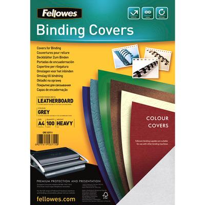 Fellowes Dekbladen leatherlook FSC Binding cover - Grijs