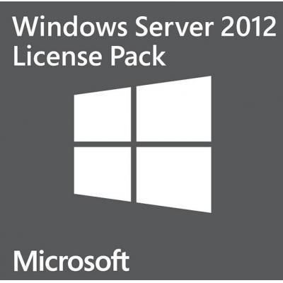 Microsoft software: Windows Server 2012, 5 Users, CAL, DE