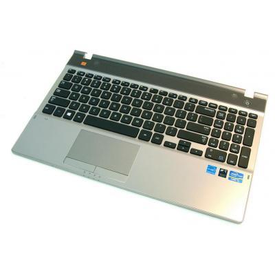 Samsung Top Case, Silver With Keyboard notebook reserve-onderdeel - Zwart, Zilver