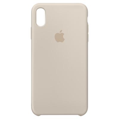 Apple mobile phone case: Siliconenhoesje voor iPhone XS Max - Steengrijs