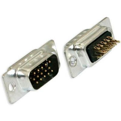 Microconnect Connector VGA Male maleHigh-Density Kabel connector - Zwart, Roestvrijstaal