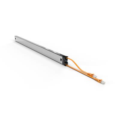 PATCHBOX ® Plus+ Cat.6a Cassette (UTP, Yellow, Long Range 1.8m + 0.7m / 46RU) Netwerkkabel - Geel