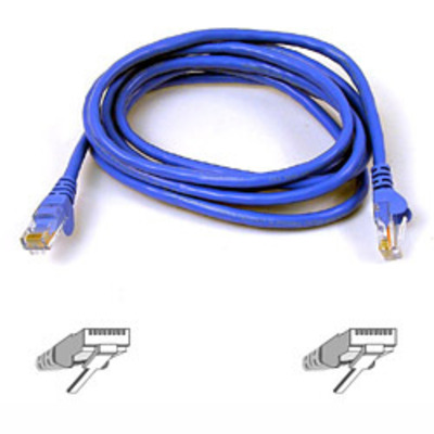 Belkin netwerkkabel: Cable Patch Cat6 RJ45 Snagless 0.5m blue