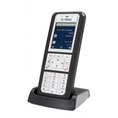 Mitel 632d Dect telefoon - Zwart, Zilver
